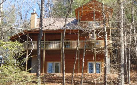 Quality-Built Log Home Fronts to Forest Service Land--$269,000