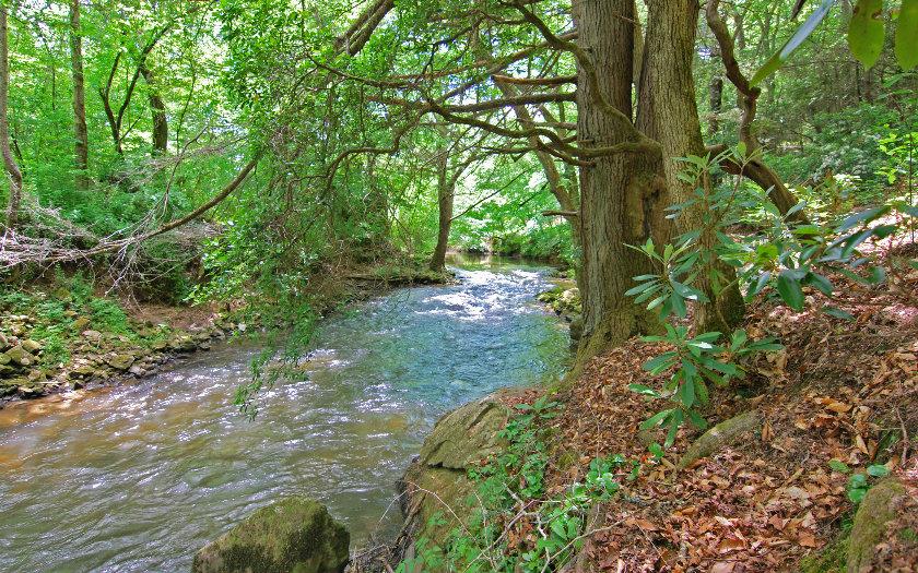 True Log Home on Fightingtown Creek--$209,000